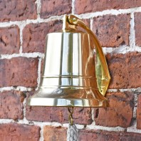 """7"""" Brass Bell With Rope Lanyard"""