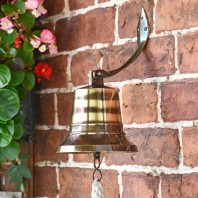 """6"""" Antique Brass Bell with Rope Lanyard"""
