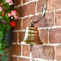 """5"""" Antique Bell with Rope Lanyard"""