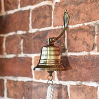 """4"""" Antique Brass Bell with Rope Lanyard"""