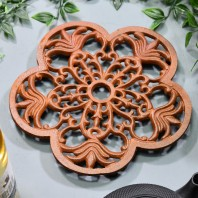 Trivet - Heavy Duty V1 Petal - Rust
