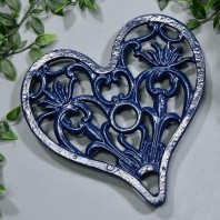 Trivet - Heavy Duty V3 Heart - Blue
