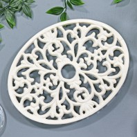 Trivet - Heavy Duty V6 - Oval - Cream
