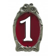 """Cardinal Red"" Reflective Cameo House Sign"
