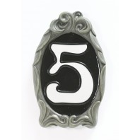"""""""Classic Black"""" Reflective Cameo House Sign"""