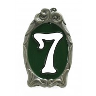 """Racing Green"" Reflective Cameo House Sign"
