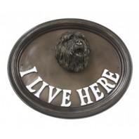 House Sign - Old English Sheep Dog - I Live Here