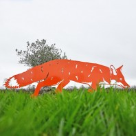 Orange Iron Silhouette Fox