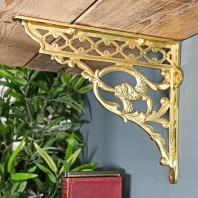 Brass Serpent Design Shelf Bracket 29 x 33cm