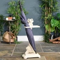 """Art Nouveau"" Cream Walking Stick & Umbrella Stand"