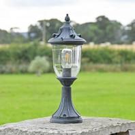 """""""Cranborne"""" Ornate Verdigris Pillar Light 41cm"""