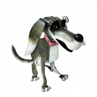 Painted Dog Garden Ornament