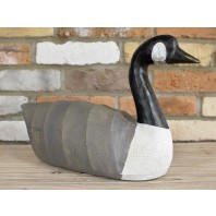 Modern Hand Painted Goose Garden Sculpture