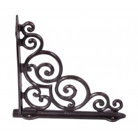 """Paradise House"" Cast Iron Scroll Shelf Bracket 27 x 25cm"