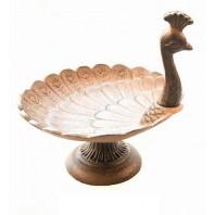 Peacock Inspired Bird Bath & Feeder