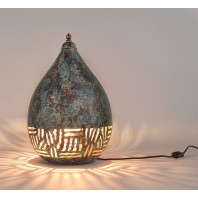 Pear Shaped Verdigris Table Lamp