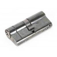 Pewter 5-Pin Euro Cylinder & Keys - 35mm