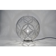 Pin Hole Patterned Round Table Light