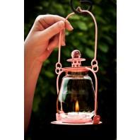 Garden Lantern - Pink Soda