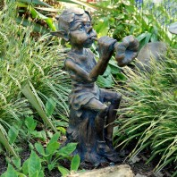 Piping Pixie Garden Sculpture