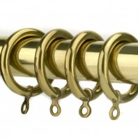 Curtain Rings - Plain Brass