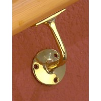Polished Brass Handrail Bracket