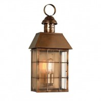 """Tawsden Cove"" Antique Brass Search Light Inspired Wall Lantern"