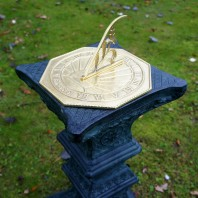 Polished Brass 'Copernicus' Sundial - 250mm