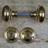 Polished Brass Traditional Door Knobs - 6.5cm