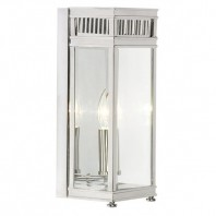 """Southwell Avenue"" Bright Chrome Single Bulb Half Wall Lantern"