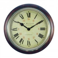 """Portobello Road"" Vintage Wooden Clock"