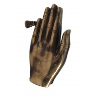 Power of Prayer Praying Antique Brass Hands Knocker