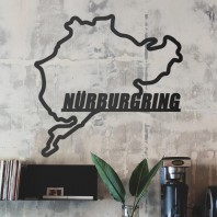 Nürburgring Race Track Steel Wall Art