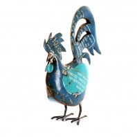 Recycled Metal Rooster Ornament - 40.5cm