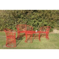 """Avery"" Red Garden Furniture Set"