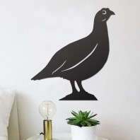 Red Grouse Steel Wall Art