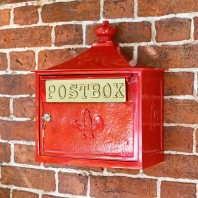 "Red ""The Suffolk"" Post or Parcel Box"