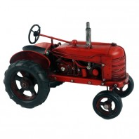 Red Scale Model Tractor