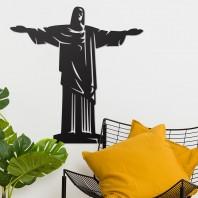 """Rio De Janeiro """"Christ Redeemer"""" Steel Wall Art"""