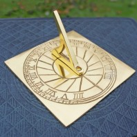Polished Brass 'Rising Sun' Sundial - 120mm