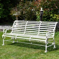 "Robust ""Chatham"" Park Bench - Cream"