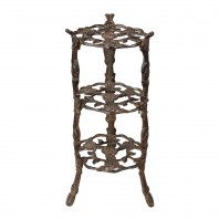 """Rose"" Rustic Cast Iron Side Stand"