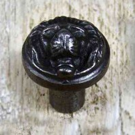 Round Lion Iron Cabinet Knob