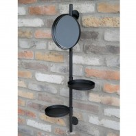 Round Wall Mounted Mirror & Shelves Unit