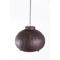 """Nepalese Bell Lantern"" Suspended iron down lighter"