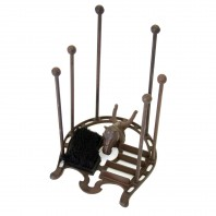 "Rustic Cast Iron ""Horse Shoe"" Boot Brush & Scrapper Welly Rack"