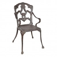 Rustic Cast Iron Victorian Chair