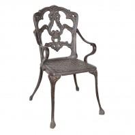 'Alvera' Rustic Cast Iron Victorian Chair