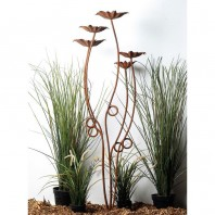 Rustic Flowers Garden Sculpture - 5 Stem