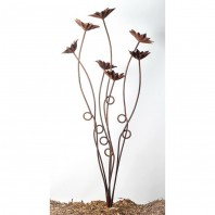 Rustic Flowers Garden Sculpture - 7 Stem